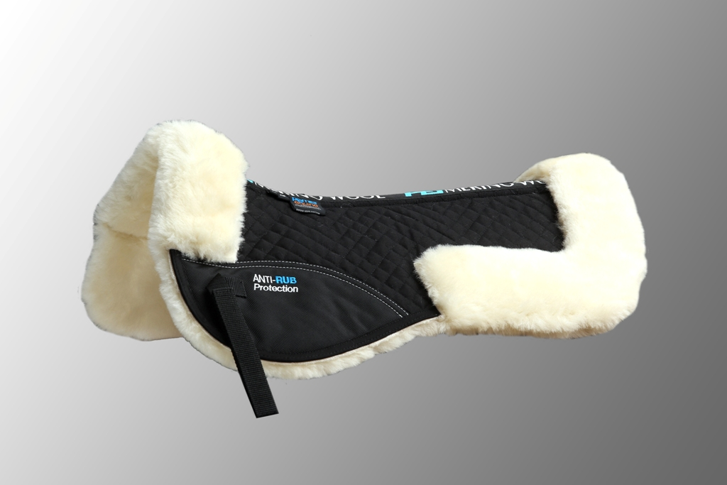 Wool Half Pad Black Natural