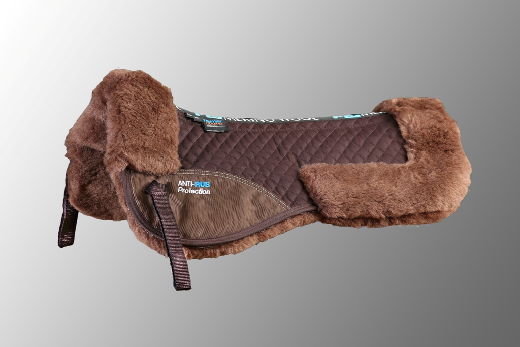 Wool Half Pad Brown Brown