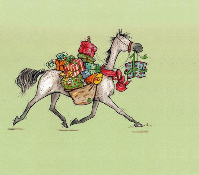 Поздравления с днем рождения картинки с лошадью 5